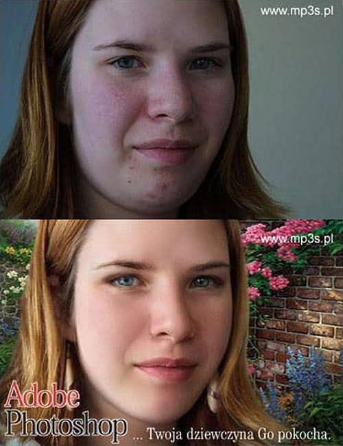 Avant/après les retouches de Photoshop – 2
