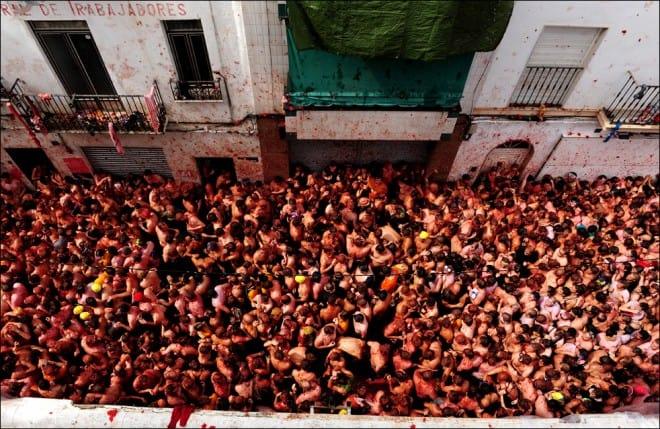 Bataille de tomates en Espagne – 1