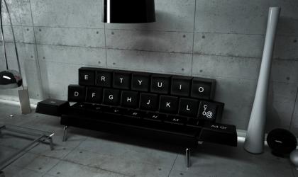 Le canapé-lit QWERTY : pour les accros du clavier