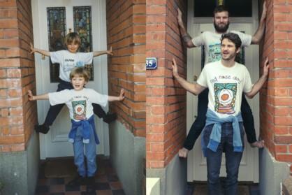 Deux frères nostalgiques reproduisent leurs photos d'enfance