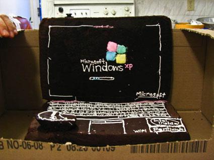 Gateau Microsoft XP