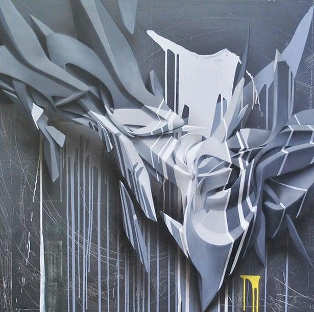 Graffiti tompe l'oeil par Peeta – 1