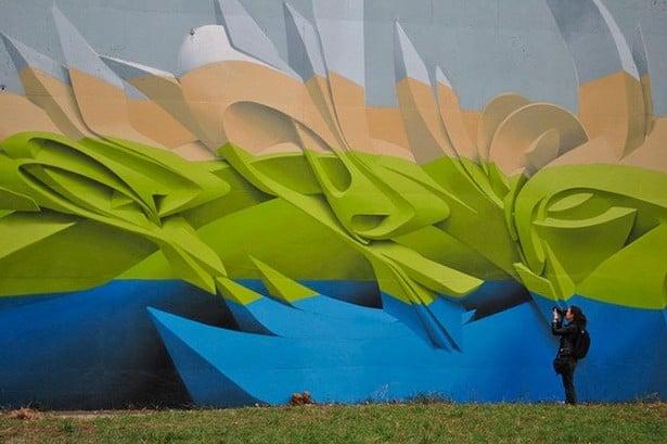 Graffiti tompe l'oeil par Peeta - 2