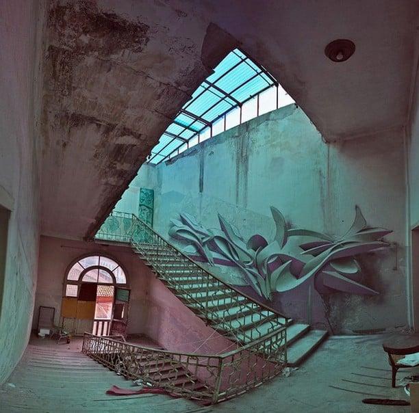 Graffiti tompe l'oeil par Peeta – 5