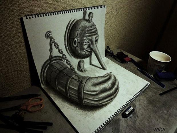 Illusions optiques au crayon papier - 10