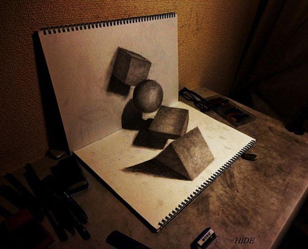 Illusions optiques au crayon papier – 11