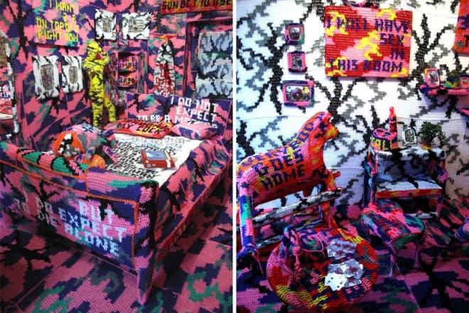 oeuvres d'art au crochet - Olek - 2