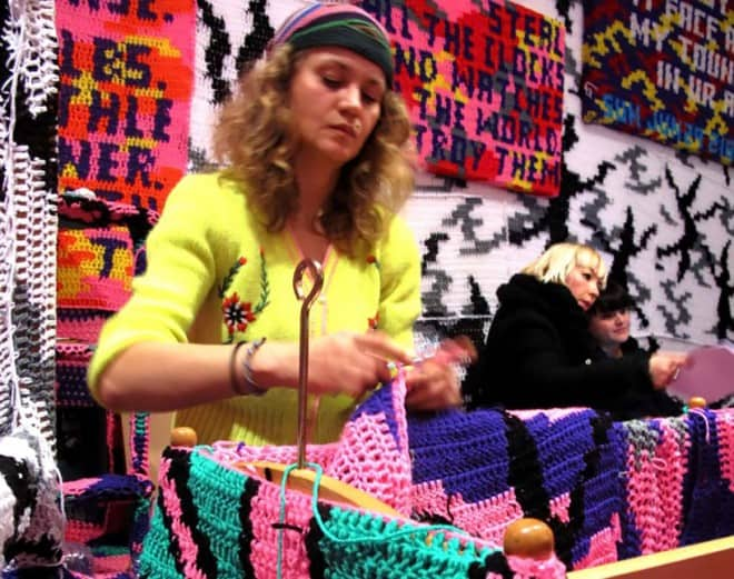 oeuvres d'art au crochet – Olek – 4