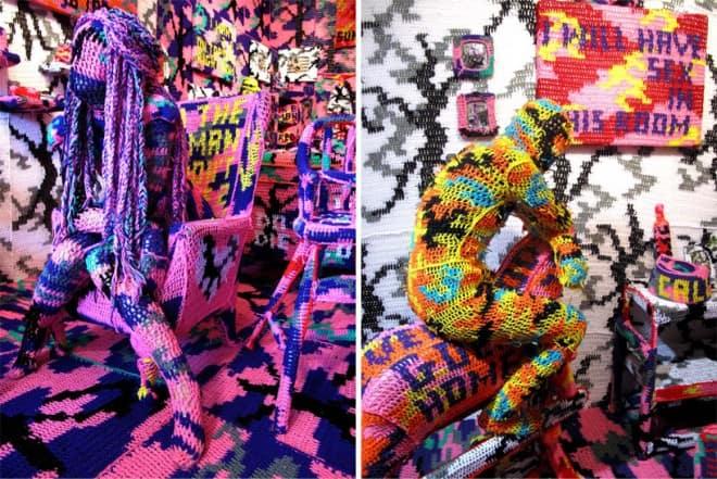oeuvres d'art au crochet - Olek - 7