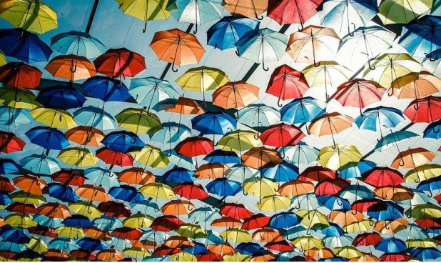 Parapluie rues d'Agueda - 2