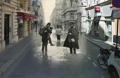 Découvrez Paris de 1900 à nos jours dans de superbes montages photos