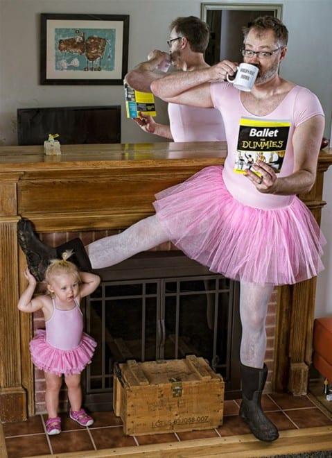 Photo avec sa fille - Art - 10