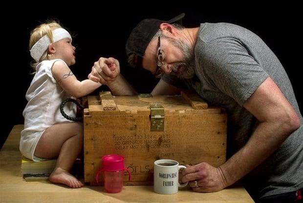 Photo avec sa fille - Art - 13