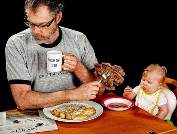 Photo avec sa fille - Art - 24