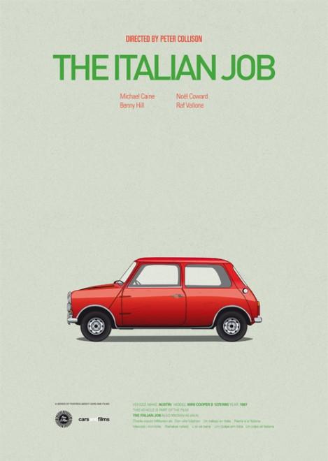 Poster voitures et films - 2