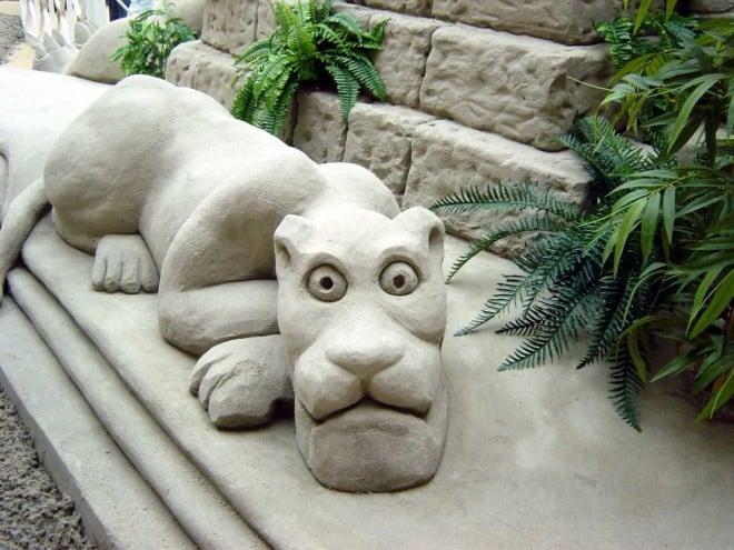 Sculptures de sable – Tigre – 4