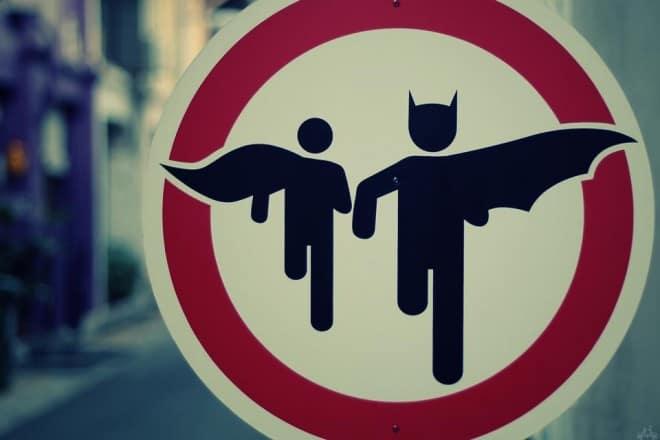 Batman et Robin street art
