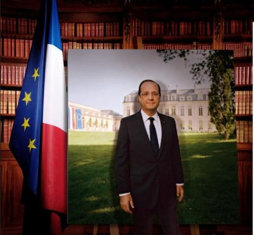 François Hollande prend la pose