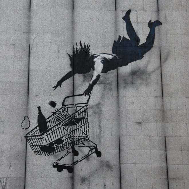 Shop till you drop street art, par Banksy