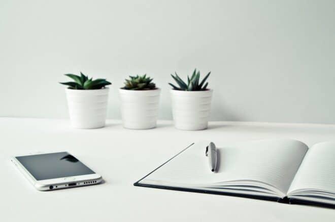 écrire smartphone