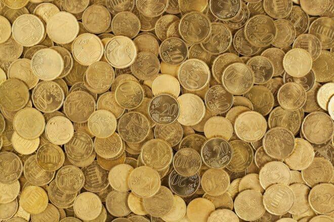 Illustration. Des pièces en centimes d'euros.